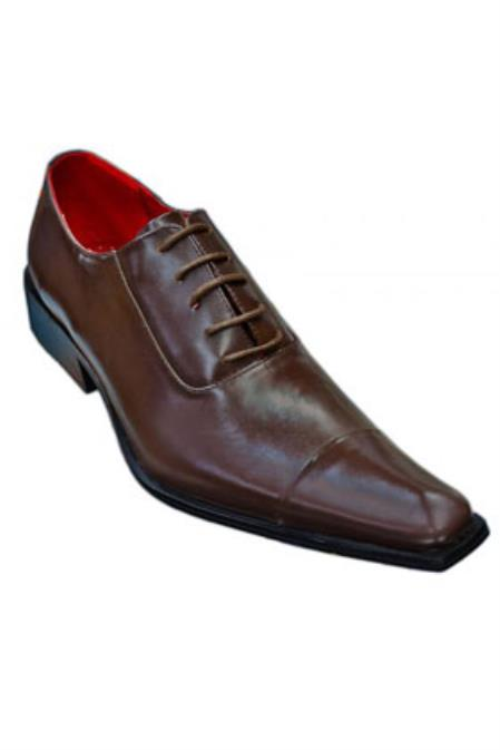 Brown Pointed Toe Leather