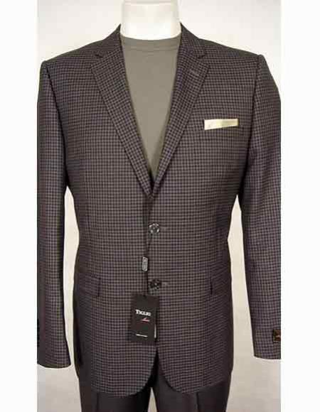 Mens Grey/Lavender Italian 150s
