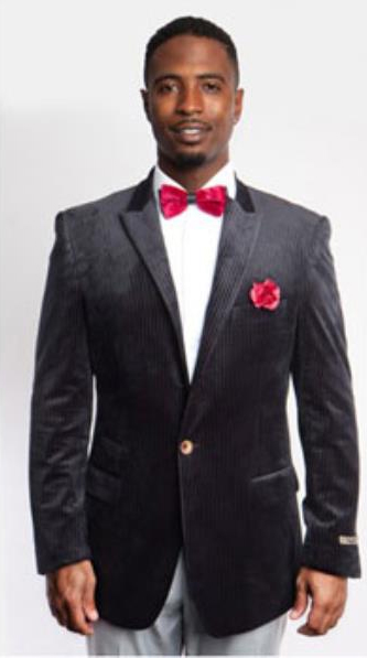 Black Fashion Peak Lapel
