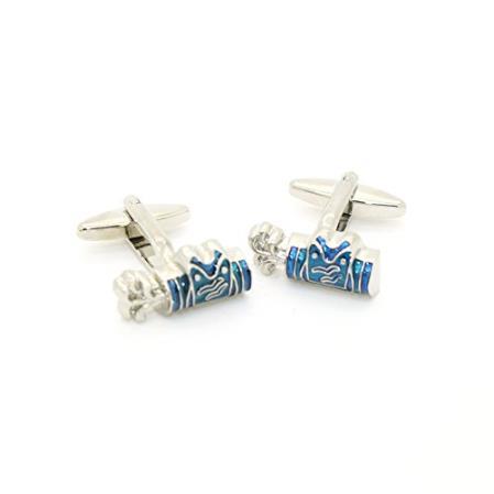Blue Wave Silver Cuff