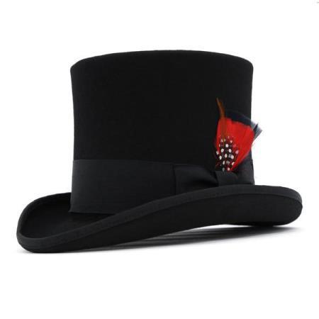 Black Wool Top Hat