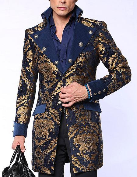 Napoleon Blue Fashion Coat