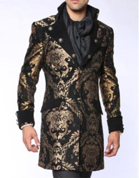 Napoleon Black Fashion Coat