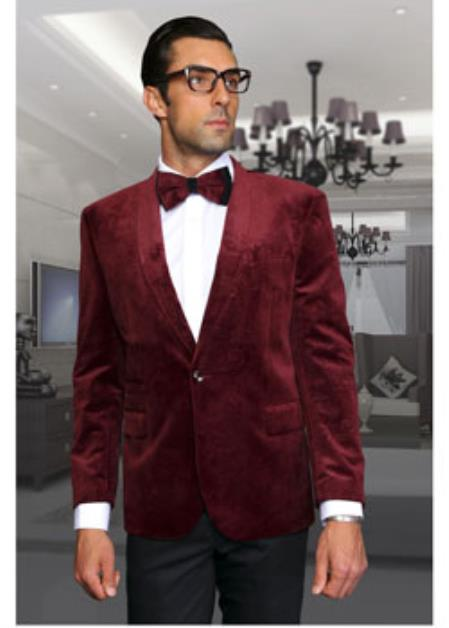 Discounted Burgundy Blazer Sportcoat