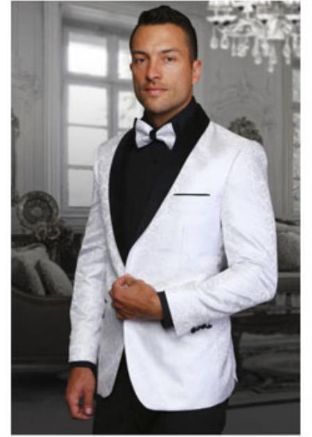 White Discounted Blazer Velvet