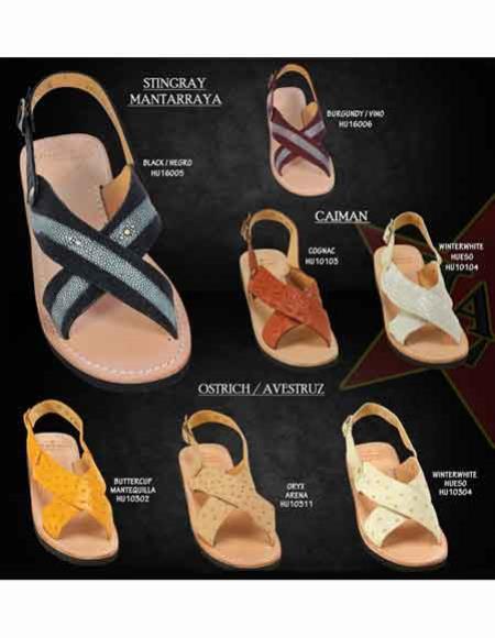 Exotic Skin Ostrich Sandals