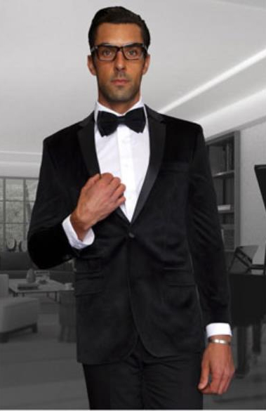 Men Black Discounted Blazer Sportcoat Velvet Fabric Jacket on Sale