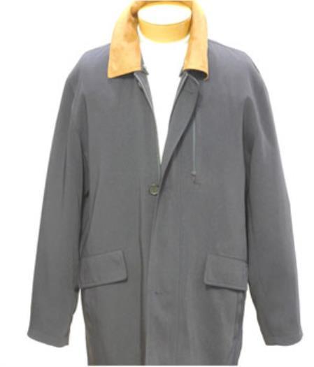 Navy 3/4 Rain Coat