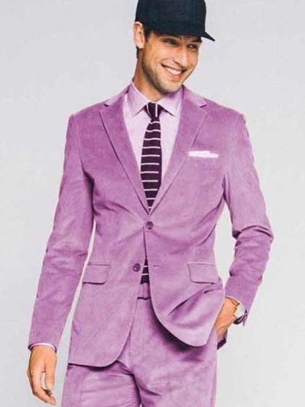 Lavender Velvet 2 Button