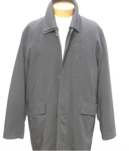 Black 3/4 Rain Coat