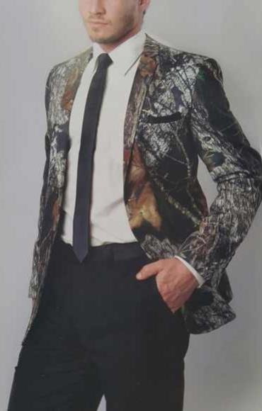 Blazer Camouflage Tuxedo Sport