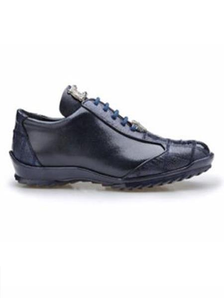 Paulo Authentic Authentic Genuine Skin Italian Brand Genuine Night Blue Ostrich and Soft Calf Leather Lining Shoe