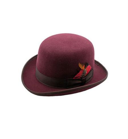 Premium Burgundy Lined Wool