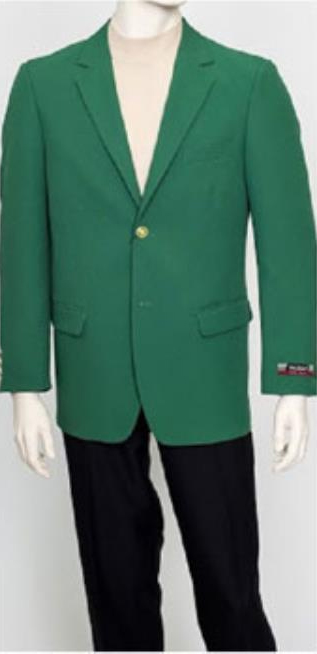 1970s Men's Suits History | Sport Coats & Tuxedos Pacelli Mens Classic Green Blazer Jacket Blair $149.00 AT vintagedancer.com
