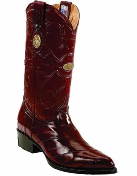 Burgundy Genuine Eel Skin
