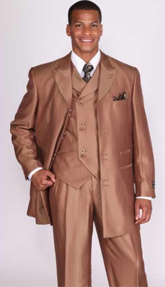Brown 3 Piece Shiny