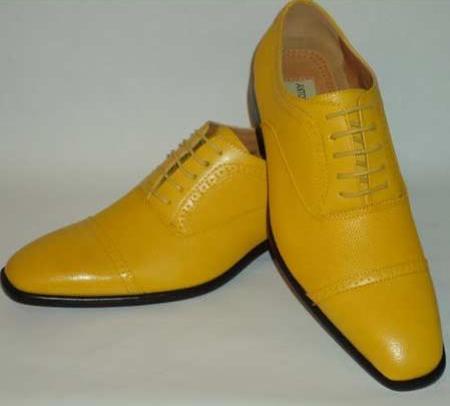 Bright Orange Mens Dress Shoes