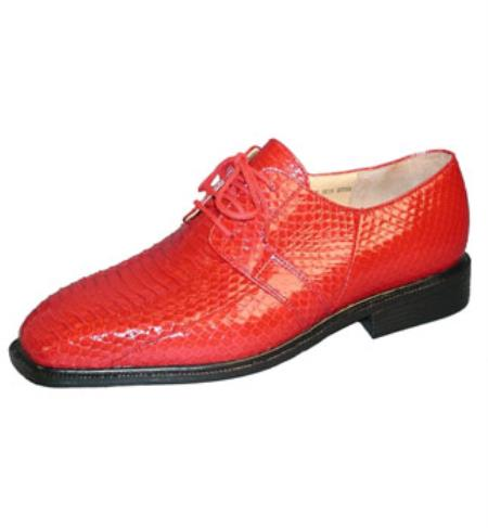 Natural Colored Snakeskin Shoes Mens