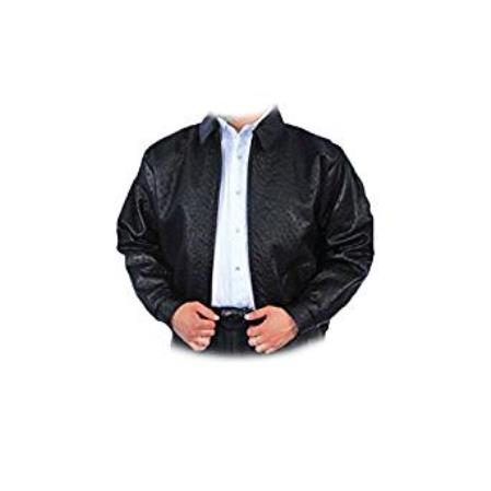 Sku Ss Tz27 Men S Black Full Quill Ostrich Bomber Jacket
