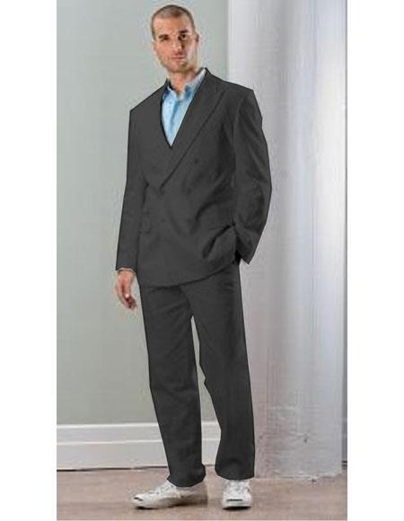 Mens Black Linen Double Breasted Blazer ~ Sport coat