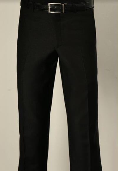 Buy SM3093 Tiglio Men's Modern Fit Super 150's Wool Flat Front Dark Brown Pant
