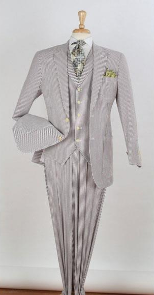 Mens 3piece Seersuckers Suit $165
