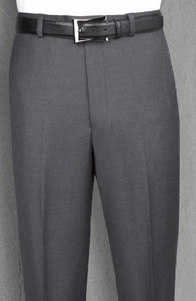 Buy SM3653 Tiglio 150's Wool Flat Front Dress Pant Modern Fit Charcoal