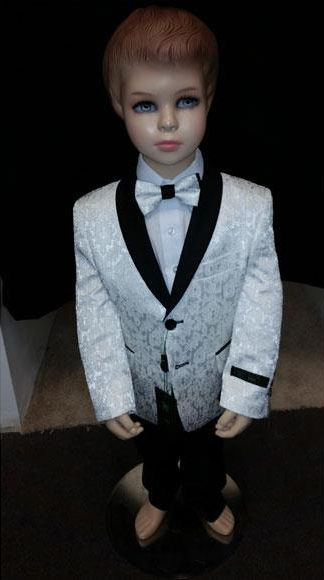 Kids Children Boys Tuxedo Paisley Two toned White Blazer Looking Perfect for toddler Suit wedding  attire outfits