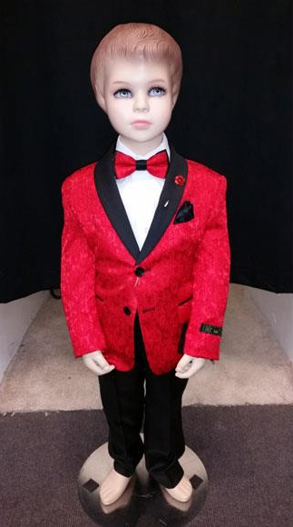 Kids Children Boys Tuxedo Red Paisley Two toned Blazer Looking
