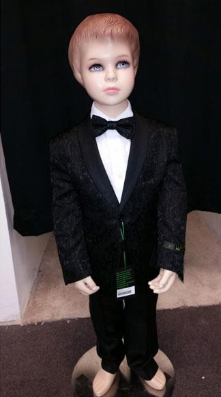Kids Children Boys Black Tuxedo Paisley Two toned Blazer Looking Perfect for toddler Suit wedding  attire outfits