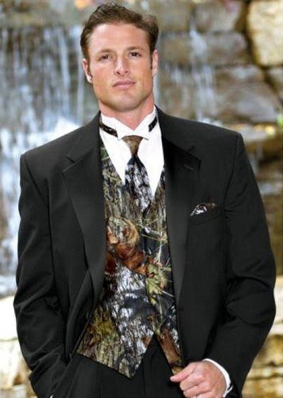 Mens Camouflage ~ Camo Notch Lapel Vested Tuxedo Tux In 3 Options
