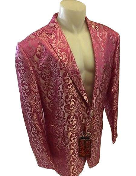 Alberto Nardoni Brand Pink Fuchsia Mens Blazer (Wholesale price $95 (12pc&UPMinimum))