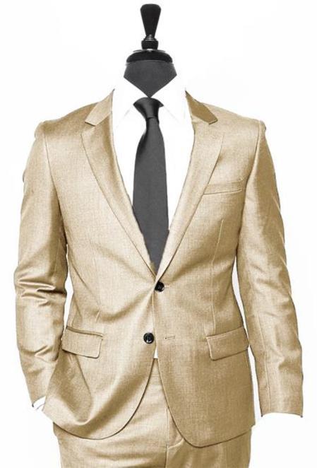 Alberto Nardoni Vested 3 Pieces Summer Linen Wedding/Groom/Groomsmen Suit Jacket & Pants & Vest Dark Tan ~ Khaki ~ Taupe