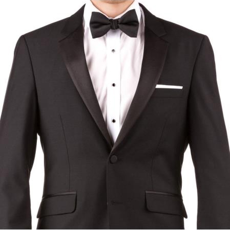 Buy Online Instead of Rental Slim Fit Notch Lapel Groom & Groomsmen Wedding Suits & Tuxedo + Black + Free Shirt & Tie