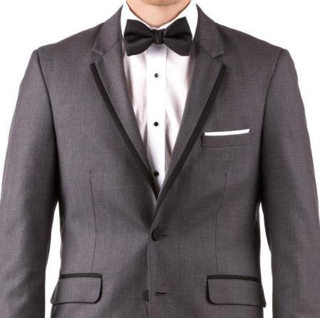 Buy Online Instead of Rental Slim Fit  Groom & Groomsmen Suits Wedding Suits & Tuxedo Online + Charcoal Gray + Free Shirt & Tie
