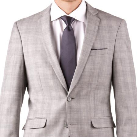 Buy Online Instead of Rental Slim Fit Groom & Groomsmen Suits Wedding Suits & Tuxedo Online + Light Gray Plaid + Free Shirt & Tie