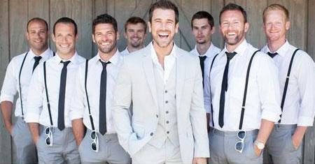 White 2 Side Pockets Wedding Attire For Man