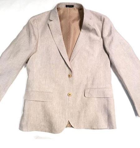 Men's Two Buttons Cheap Priced Designer Fashion Dress Casual Blazer On Sale Linen Tan Blazer