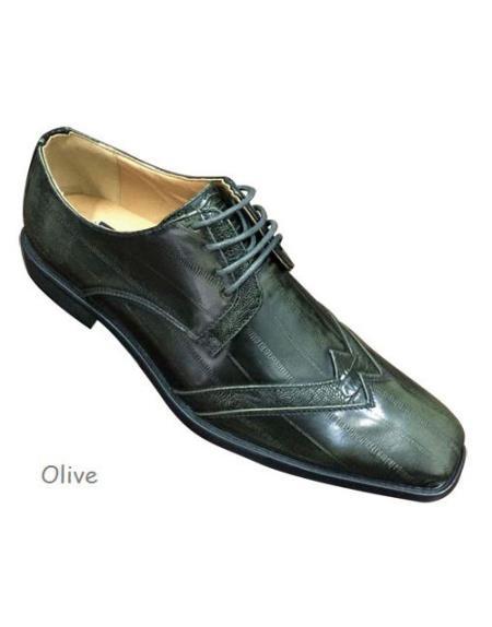 Buy GD108 Mens Lace Dress Shiny Tuxedo Olive Shoe