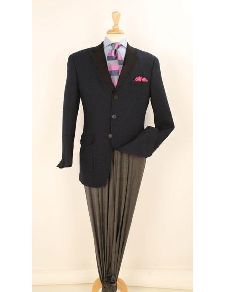 Men's Vintage Style Suits, Classic Suits Mens 3 Buttons 100 Wool Navy sportcoat blazer $60.00 AT vintagedancer.com