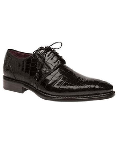 men's mezlan platinum genuine black alligator lace up shoes marini authentic mezlan brand