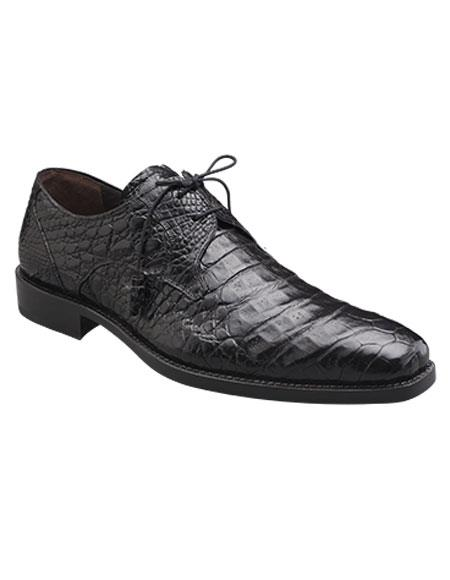 men's mezlan handmade black classy style crocodile lace up shoes authentic mezlan brand