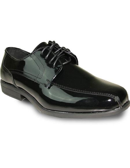 Mens Vintage Style Shoes| Retro Classic Shoes Mens Oxford Tuxedo Black Patent Formal for Prom  Wedding Lace Up Dress Shoe $95.00 AT vintagedancer.com