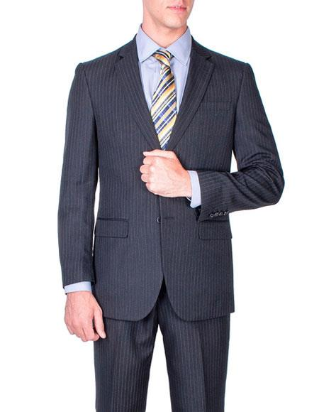 Buy CH1368 Mens Two Buttons stripe Authentic Giorgio Fiorelli Brand suits Flat Front Pants