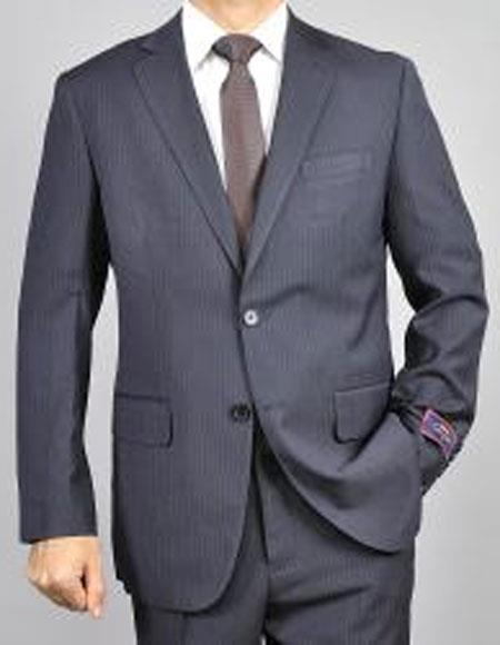 Buy CH1370 Mens pinstripe Two Buttons Authentic Giorgio Fiorelli Brand suits Flat Front Pants