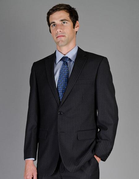 Buy CH1375 Mens Stripe Single Breasted Authentic Giorgio Fiorelli Brand suits Flat Front Pants
