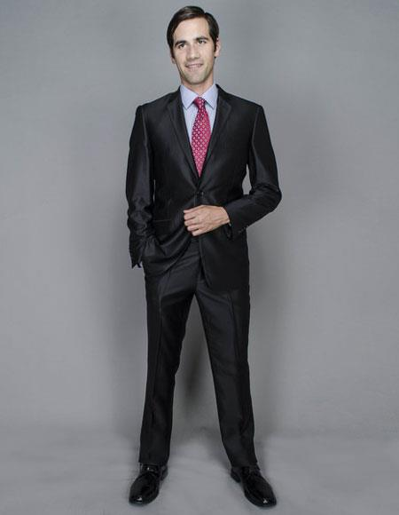 Buy CH1376 Mens Shine Slim Two Buttons Authentic Giorgio Fiorelli Brand suits Flat Front Pants
