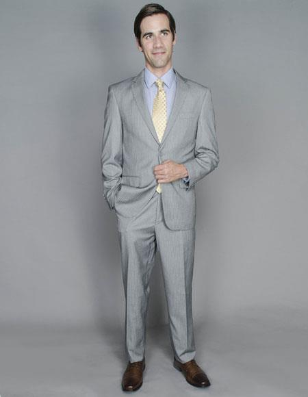 Buy CH1396 Men's Striped Single Breasted Authentic Giorgio Fiorelli Brand suits Flat Front Pants
