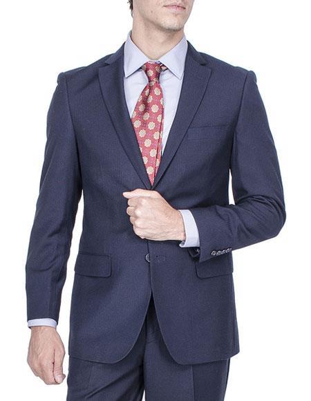 Buy CH1398 Men's Tonal Stripe Single Breasted Authentic Giorgio Fiorelli Brand suits Pleated pants