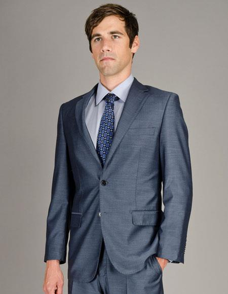 Buy CH1410 Men's Single Breasted Sharkskin Authentic Giorgio Fiorelli Brand suits Flat Front Pants